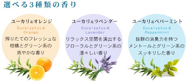 選べる3種類の香り