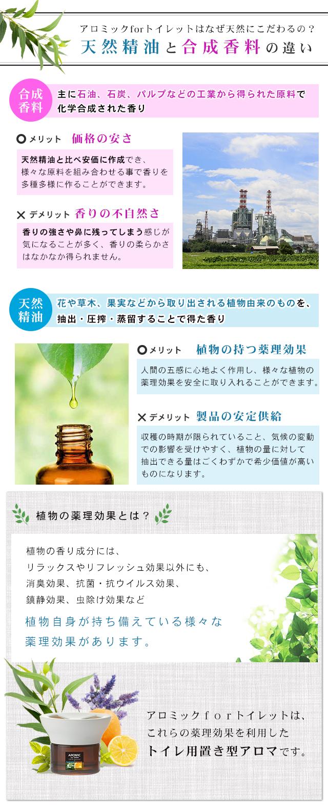 合成香料と天然精油の違い